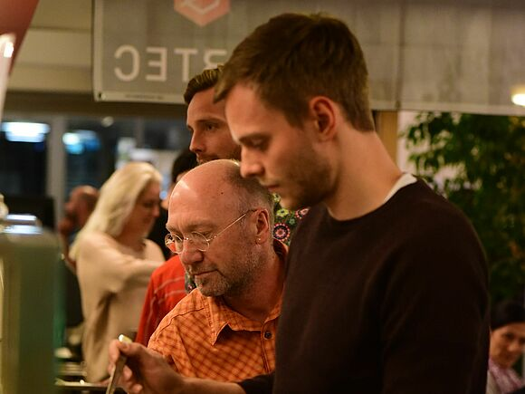 Bilder der Pasta-Party von Roland Sprich (I21640-2)