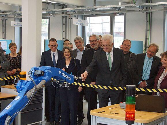 Ministerpräsident am Campus Furtwangen