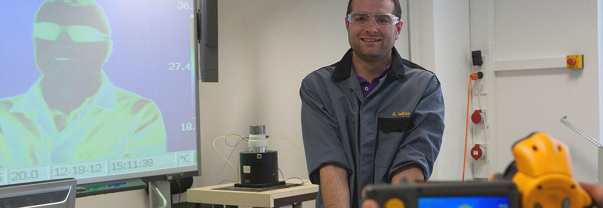 Safety-Labor: Einsatz der Wärmebildkamera