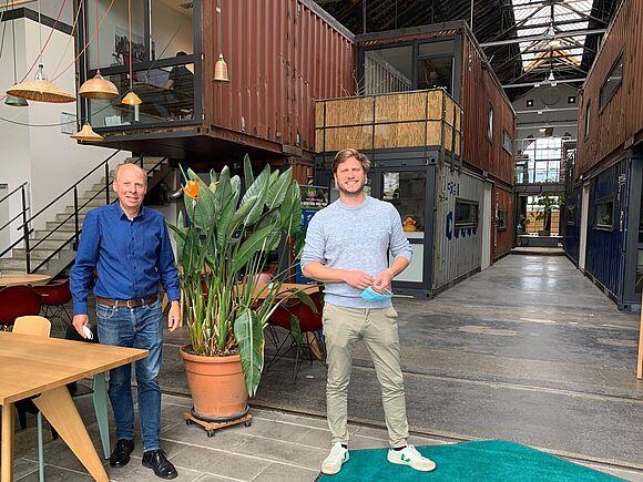 Philipp Rottman und Prof. Karduck im Accelerator