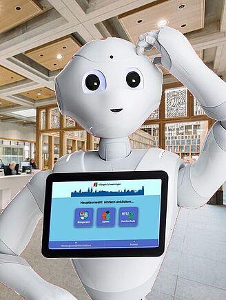Roboter Pepper agiert als Infoterminal