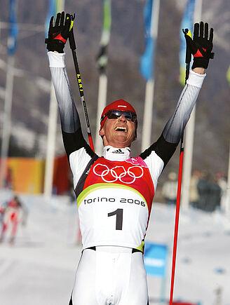 Georg Hettich: 2006 Olympic Nordic Combination Champion. Photo: Sammy Minkoff.