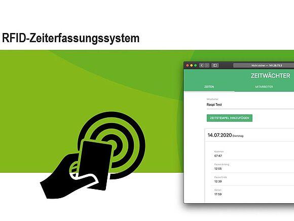 """Screenshot Projektpräsentation """"Zeiterfassungssystem"""""""