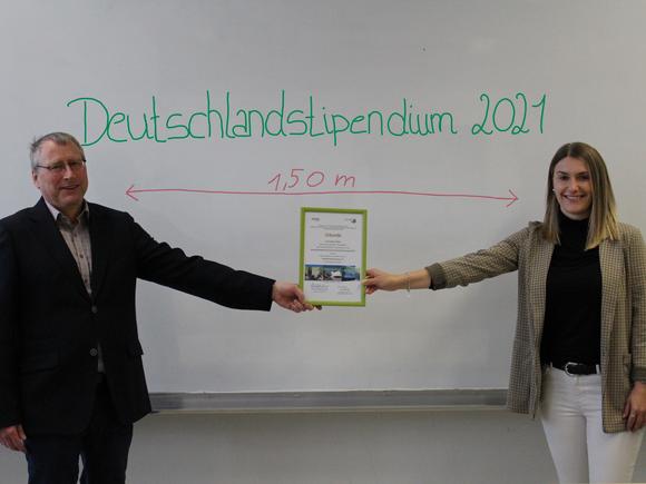 Deutschlandstipendium für Fabienne Räther