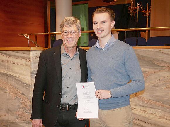 Studienpreis der Tuttlinger Bürgerstiftung für Luca Kaiser