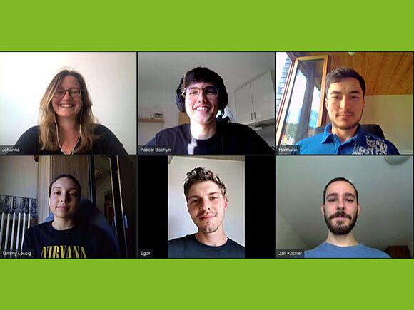Videokonferenz der Preisträger