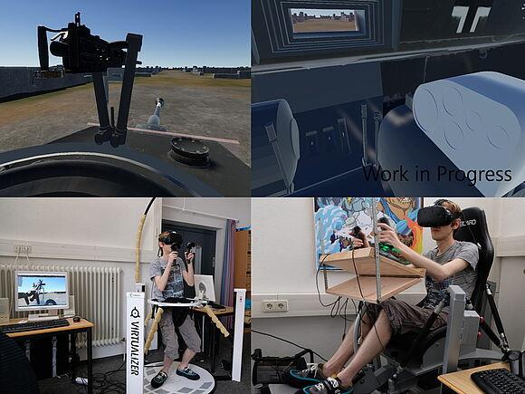 Entwicklung von 3 individuellen und realitätsnahen VR Steuerungen für eine Panzersimulation