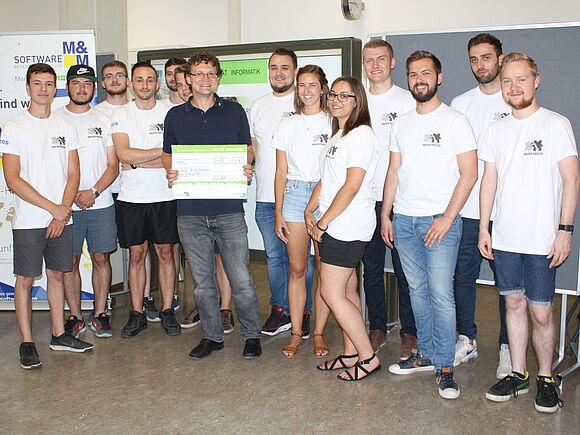 "Team ""Rob der Puzzler"" gewinnt Preis als innovativstes Semesterprojekt (I12151)"