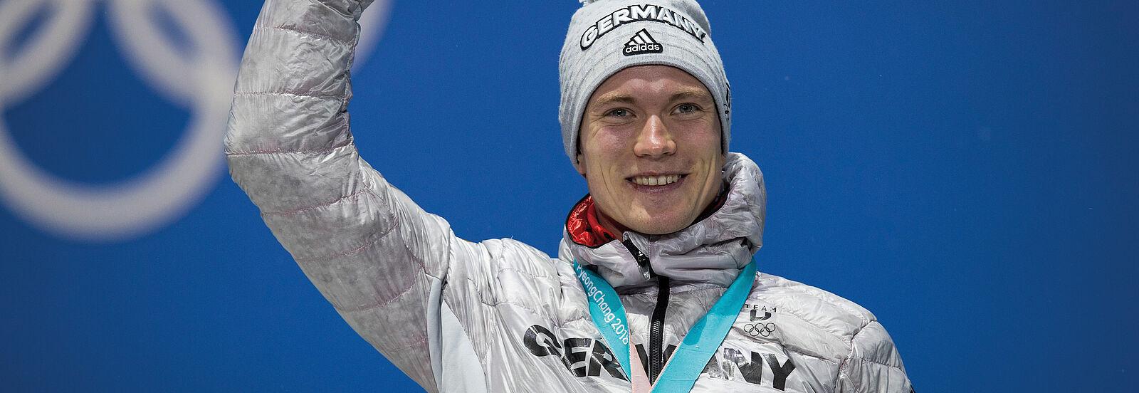 Benedikt Doll: Bronze-Medaillen-Gewinner bei den Olympischen Spielen 2018. Foto: NordicFocus.