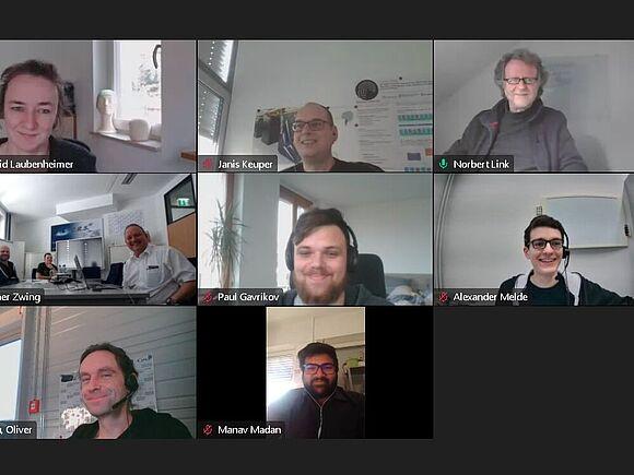Foto der Teammitglieder aus der Video-Konferenz