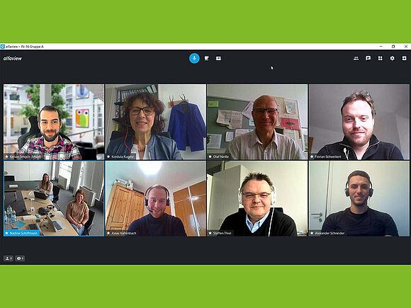 Gruppenbild Videokonferenz-Screenshot