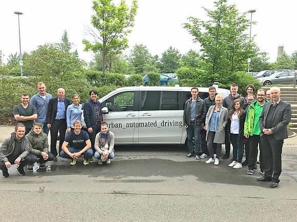 """Autonomes Fahren der Zukunft"" - Exkursion des Studiengangs Mobile Systeme zu Daimler (I7944)"