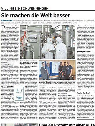 """News """"Nachhaltige Bioprozesstechnik"""" (I17630-1)"""