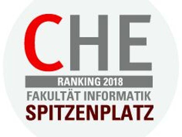 Logo CHE Ranking 2018: Fakultät Informatik belegt Spitzenplatz