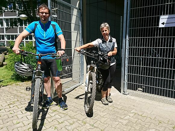 Neuer Fahrradstellplatz am C-Bau (I8297)