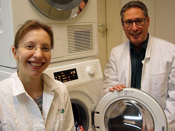 Wäschekeime beim Wachsen belauschen