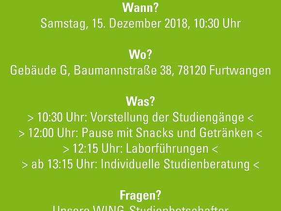 WING-Studieninfotag am 15.12.2018