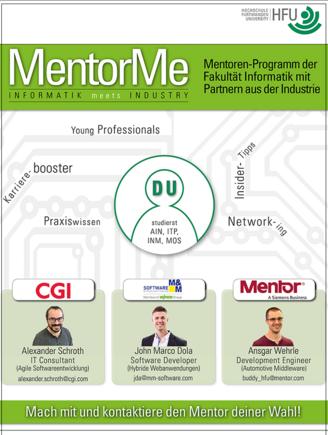 Neues Mentoren-Programm der Fakultät Informatik mit Partnern aus der Industrie (I10134)