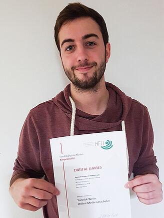 "Erste Absolventen mit Zertifikat ""Digital Games"" (I11016)"